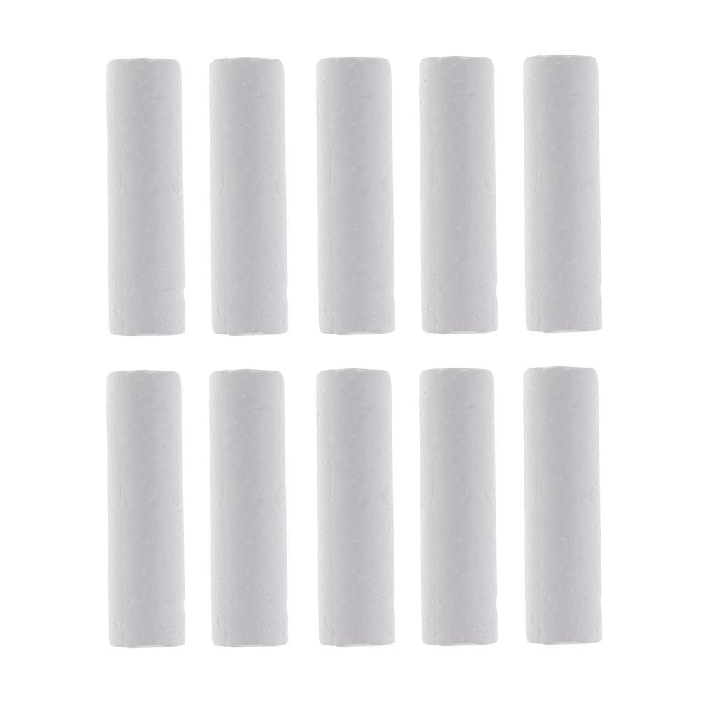 10-Stuecke-Leere-Weisse-Styropor-Zylinder-Ornamente-Fuer-Zeichnung-Malerei Indexbild 4