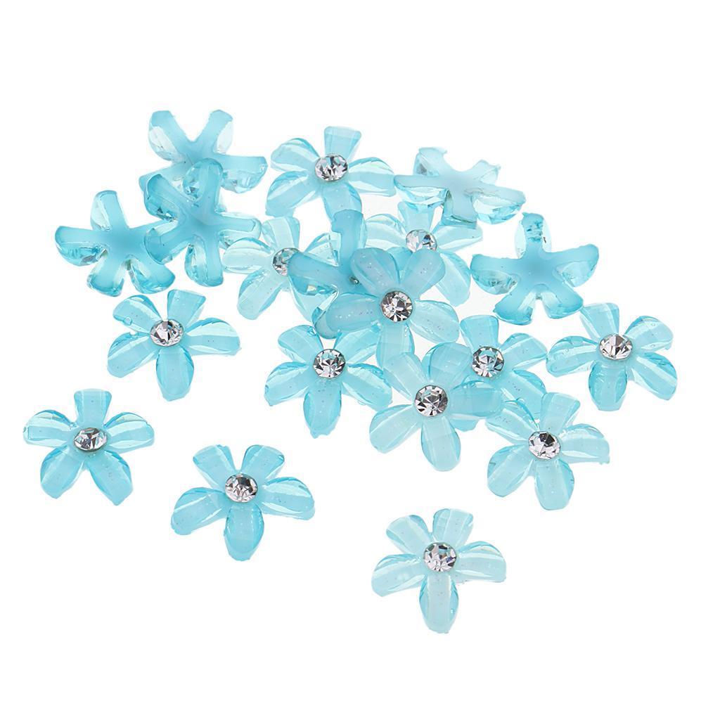 20-pcs-Blumen-Flatback-Perle-Strass-Flatback-Button-Kristall-Verzierung-Handwerk Indexbild 30