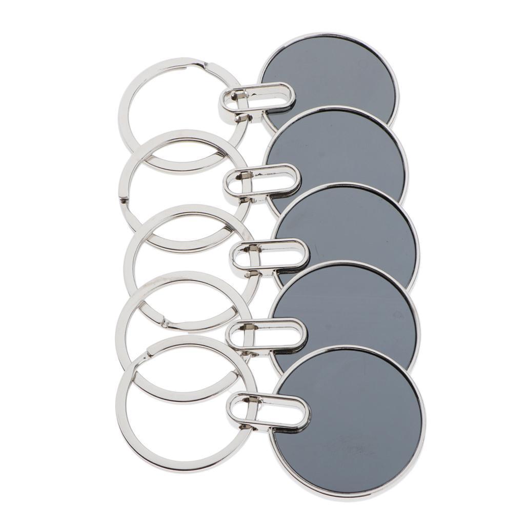 5x-Key-Tags-Blank-ID-Fobs-Metal-Keyrings-Car-Keychain-Key-Ring-w-Split-Rings thumbnail 3