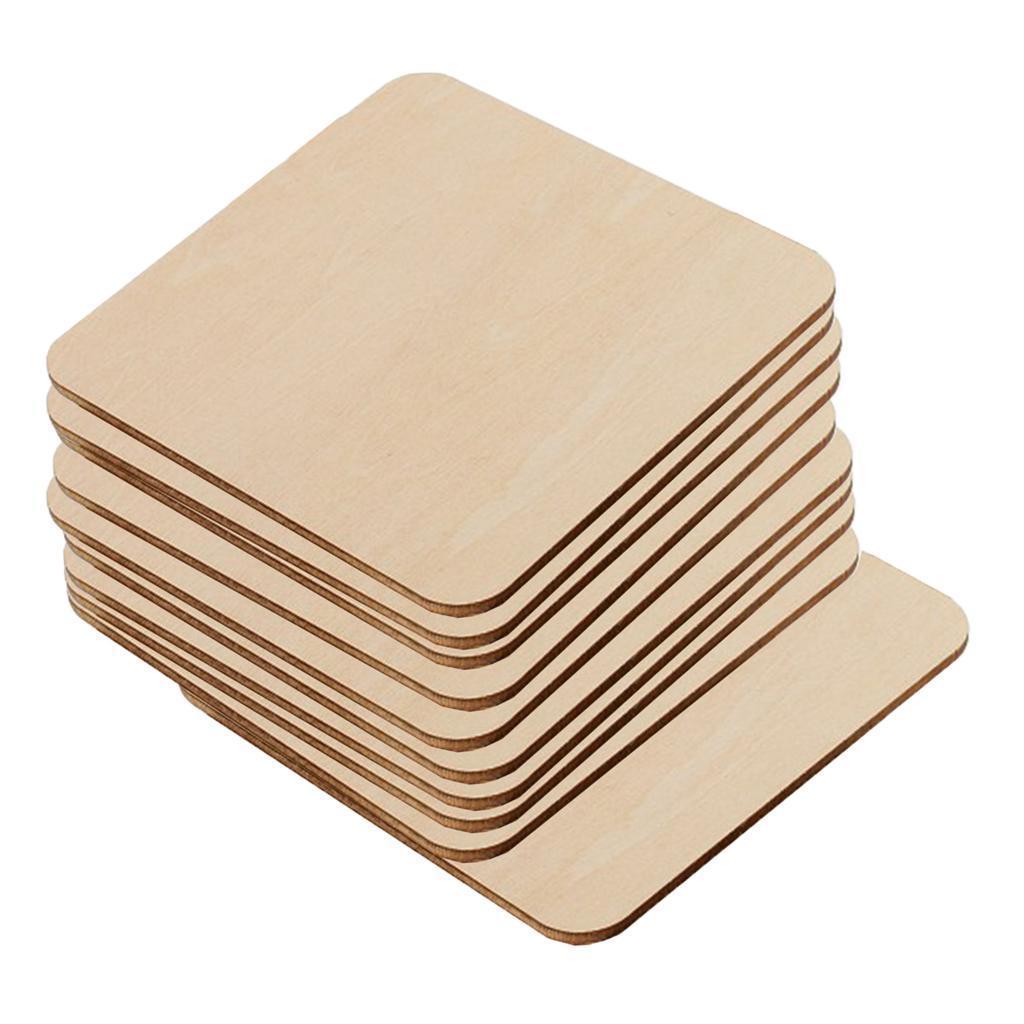 10er-Pack-Holzausschnitte-fuer-Basteln-DIY-Holz-Rechteck-Leere-Stuecke Indexbild 6
