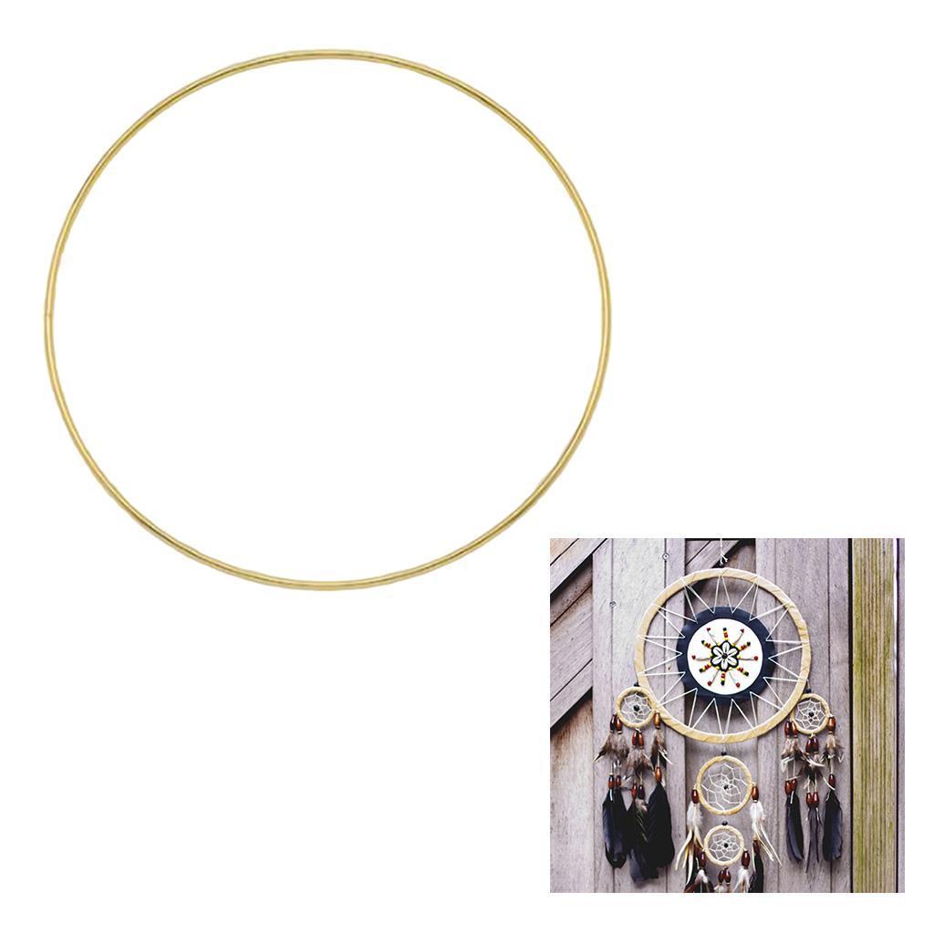 miniatura 89 - Anelli di metallo per Sogno Catchers Macrame Cerchi Mestiere Ruote