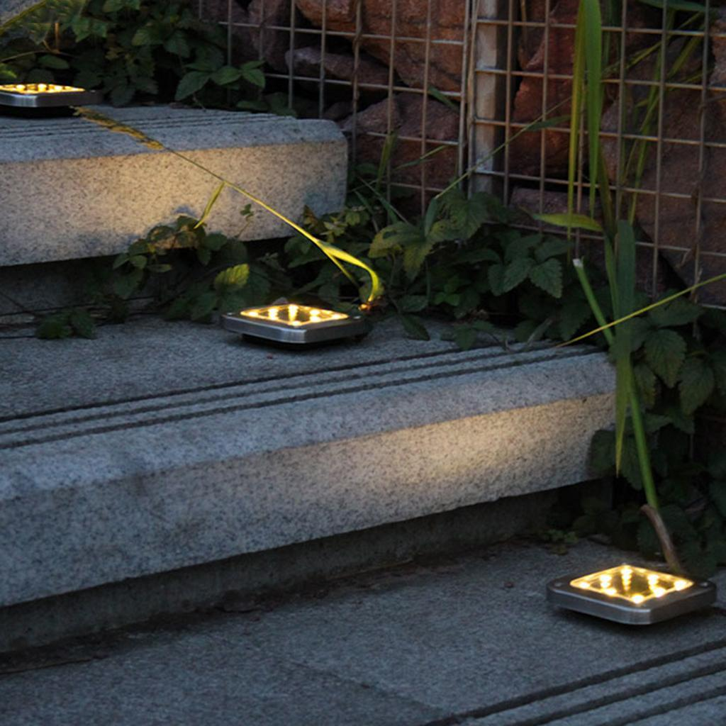16LED Solar Power Buried Light Under Ground Lamp Outdoor Garden Decking B3Q8