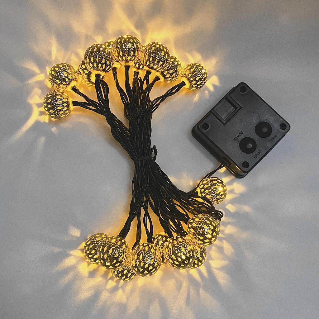 miniature 12 - 50 LED boule solaire chaîne lumières fête fée Patio extérieur jardin Hall
