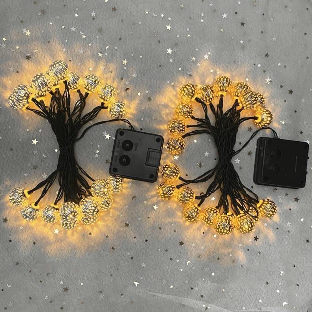 miniature 4 - 50 LED boule solaire chaîne lumières fête fée Patio extérieur jardin Hall