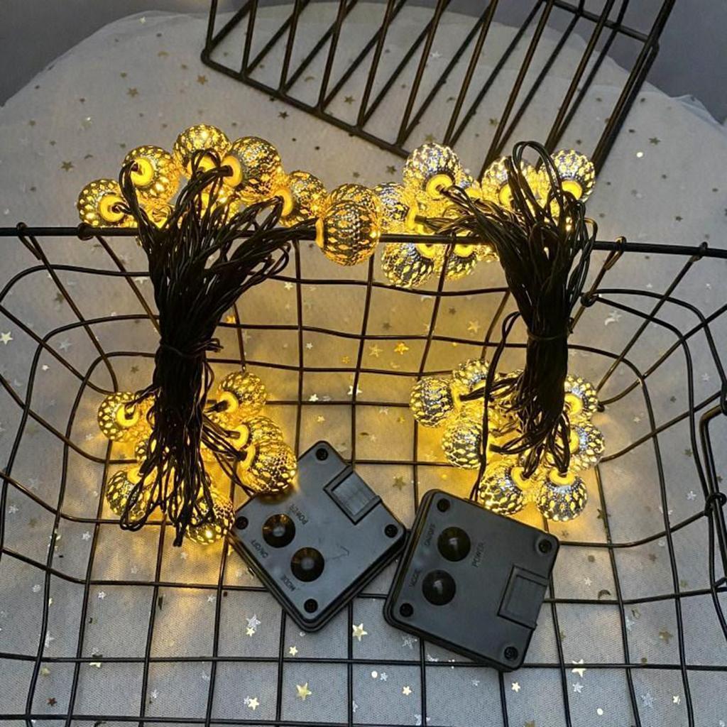 miniature 5 - 50 LED boule solaire chaîne lumières fête fée Patio extérieur jardin Hall