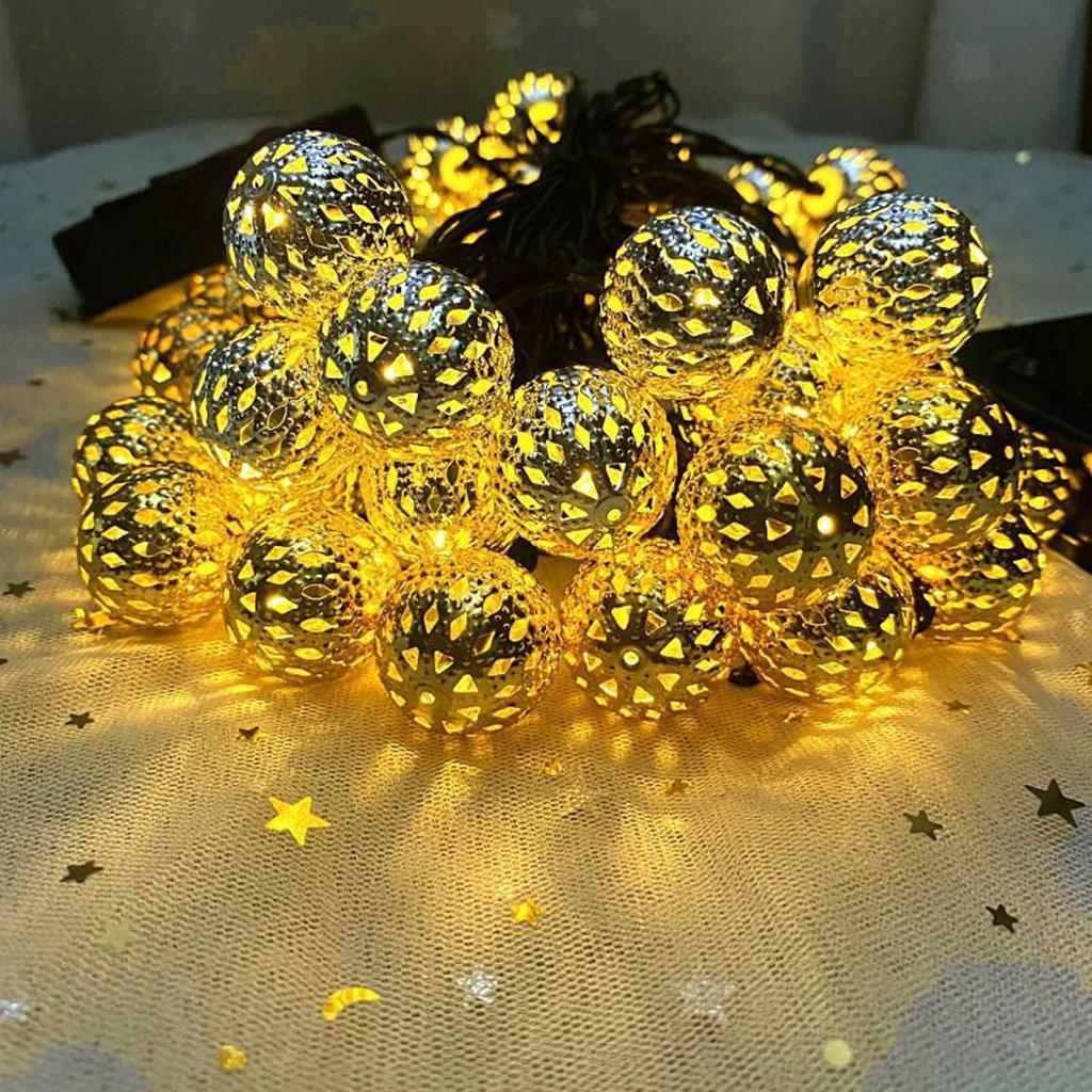 miniature 14 - 50 LED boule solaire chaîne lumières fête fée Patio extérieur jardin Hall