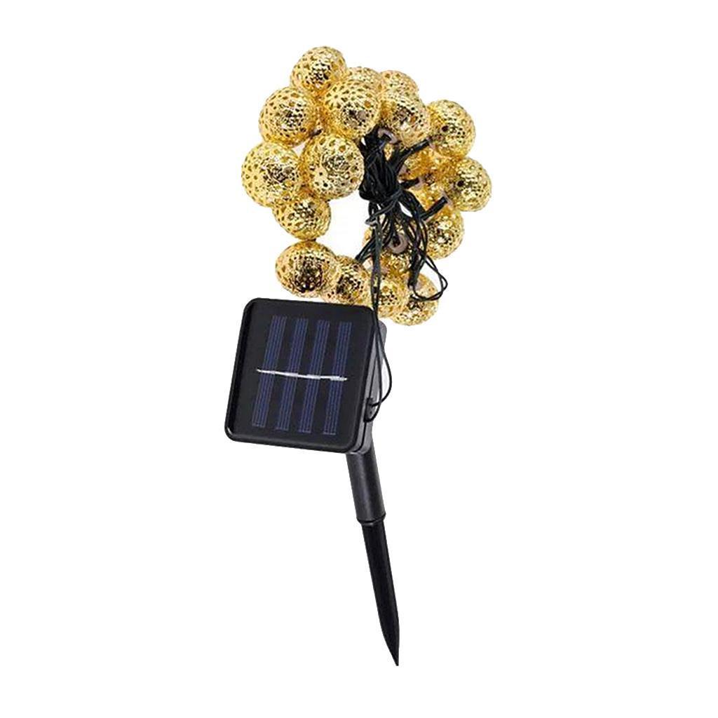 miniature 11 - 50 LED boule solaire chaîne lumières fête fée Patio extérieur jardin Hall