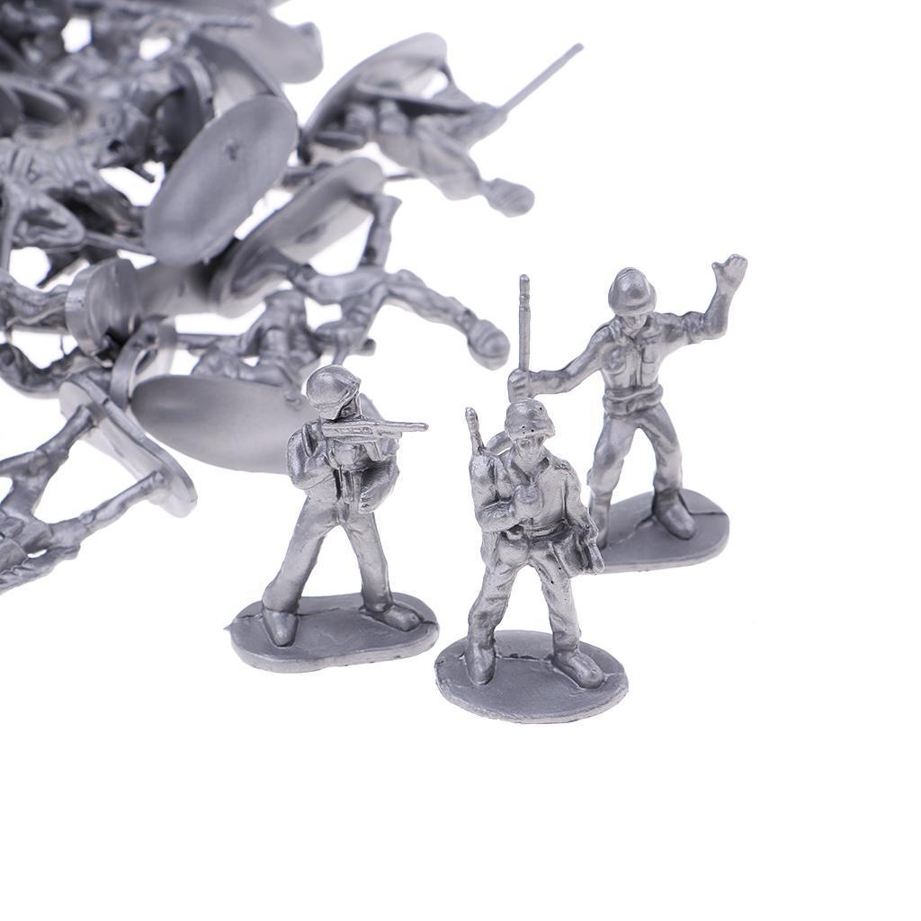 100x-Soldaten-Figur-Modell-Spielzeug-Kinder-Jungen-Modelle-Kits-Militaer-Armee Indexbild 6