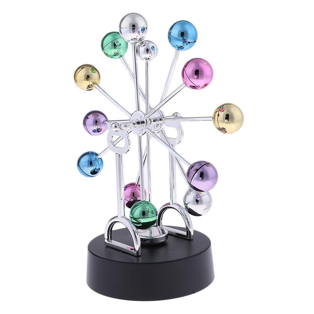 Schwingball-Perpetuum-Mobile-Handwerk-mit-Kugeln-fuer-Buero-Schreibtisch Indexbild 3