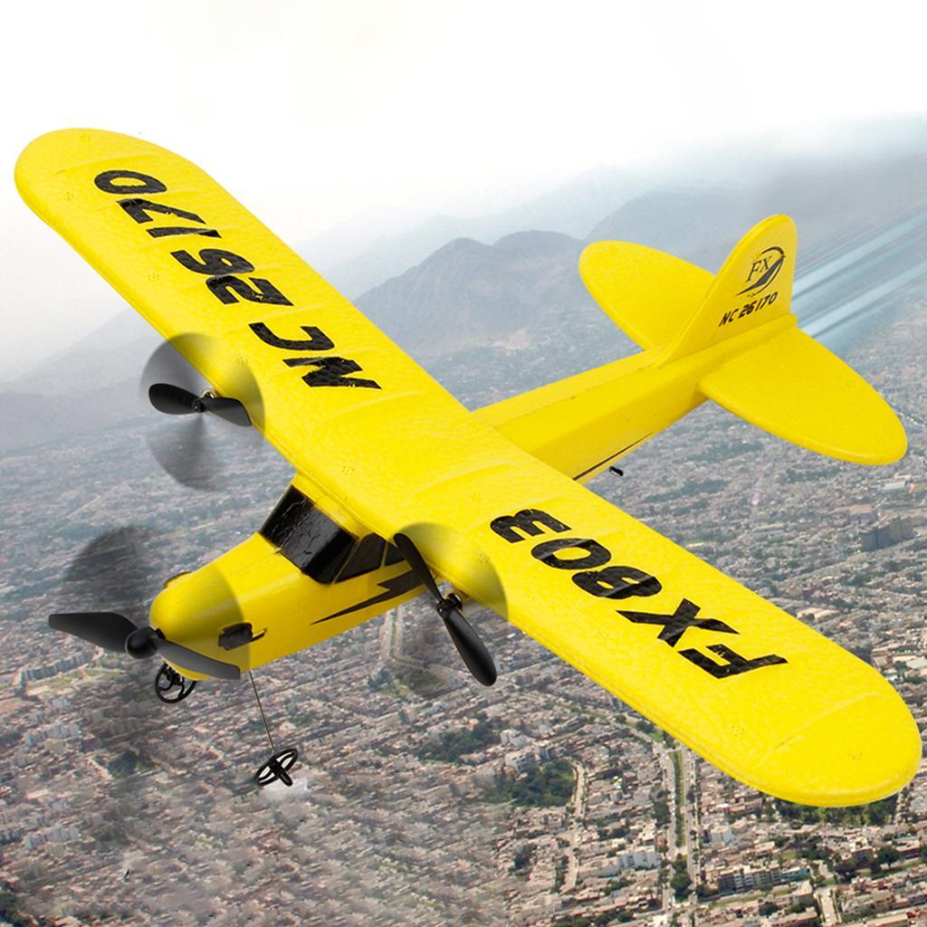 FX-803 2CH Remote Control Glider Aerodone Wing Audult Foam Plane Toys Yellow
