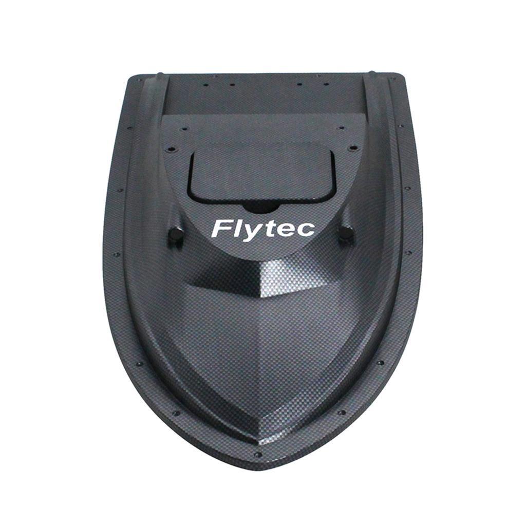 Electric-Fishing-RC-Bait-Boat-Hull-Top-Shell-Black-for-Flytec-V007-Parts thumbnail 3