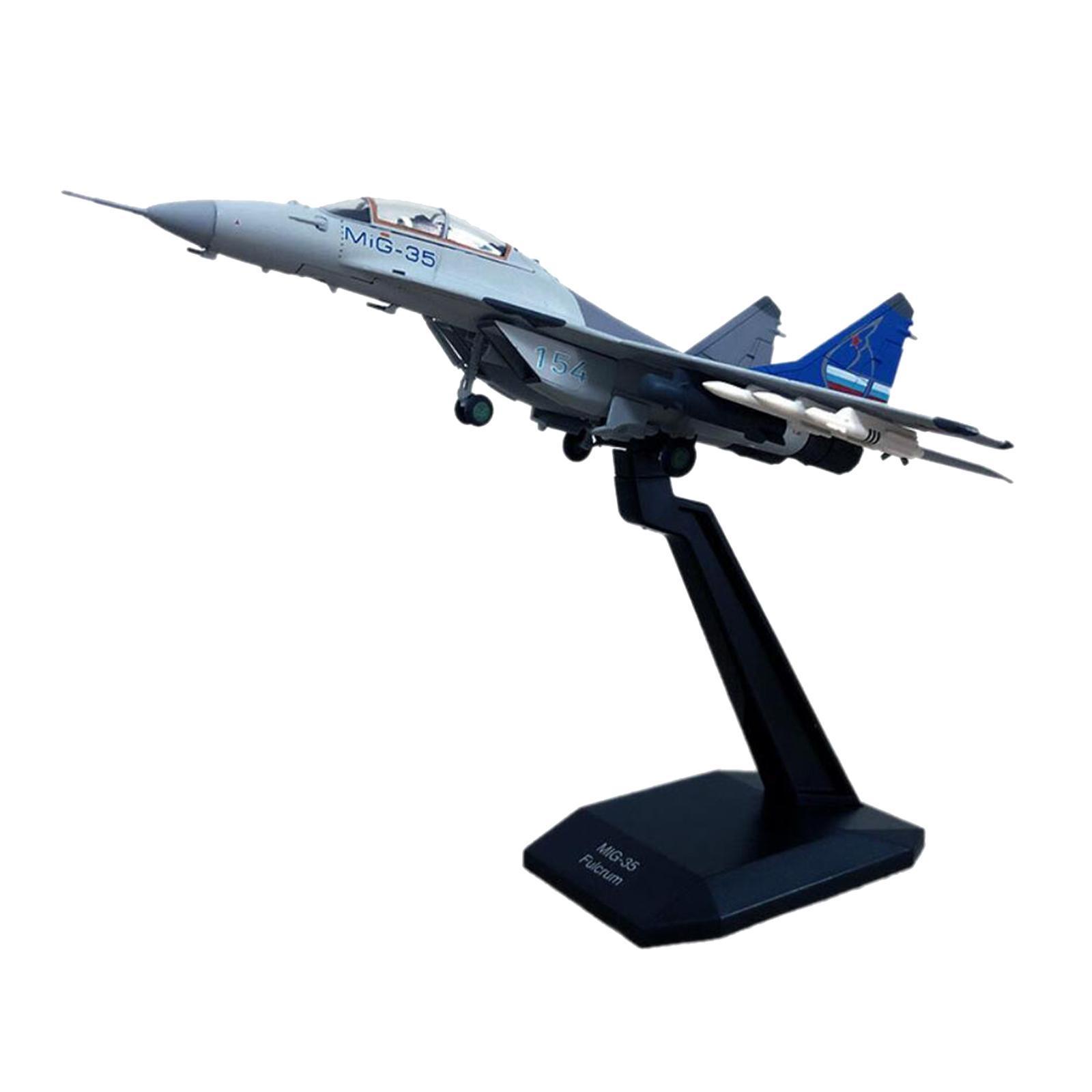 miniatura 5 - 1pc 1/100 MIG-35 Aircraft Metallo Modello di Aereo di Plastica Collezionismo