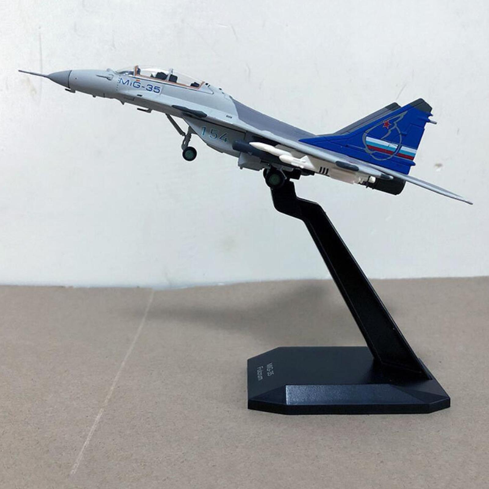 miniatura 6 - 1pc 1/100 MIG-35 Aircraft Metallo Modello di Aereo di Plastica Collezionismo