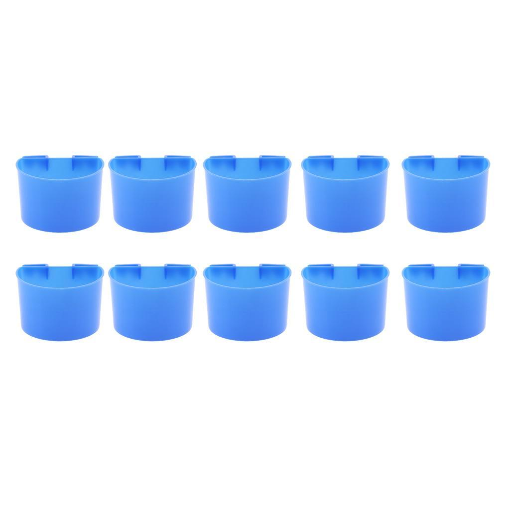 thumbnail 10 - 10 Pcs Bird Pigeon Feeder Cups Bowls Plastic Food Water Sand Cups L/S Size