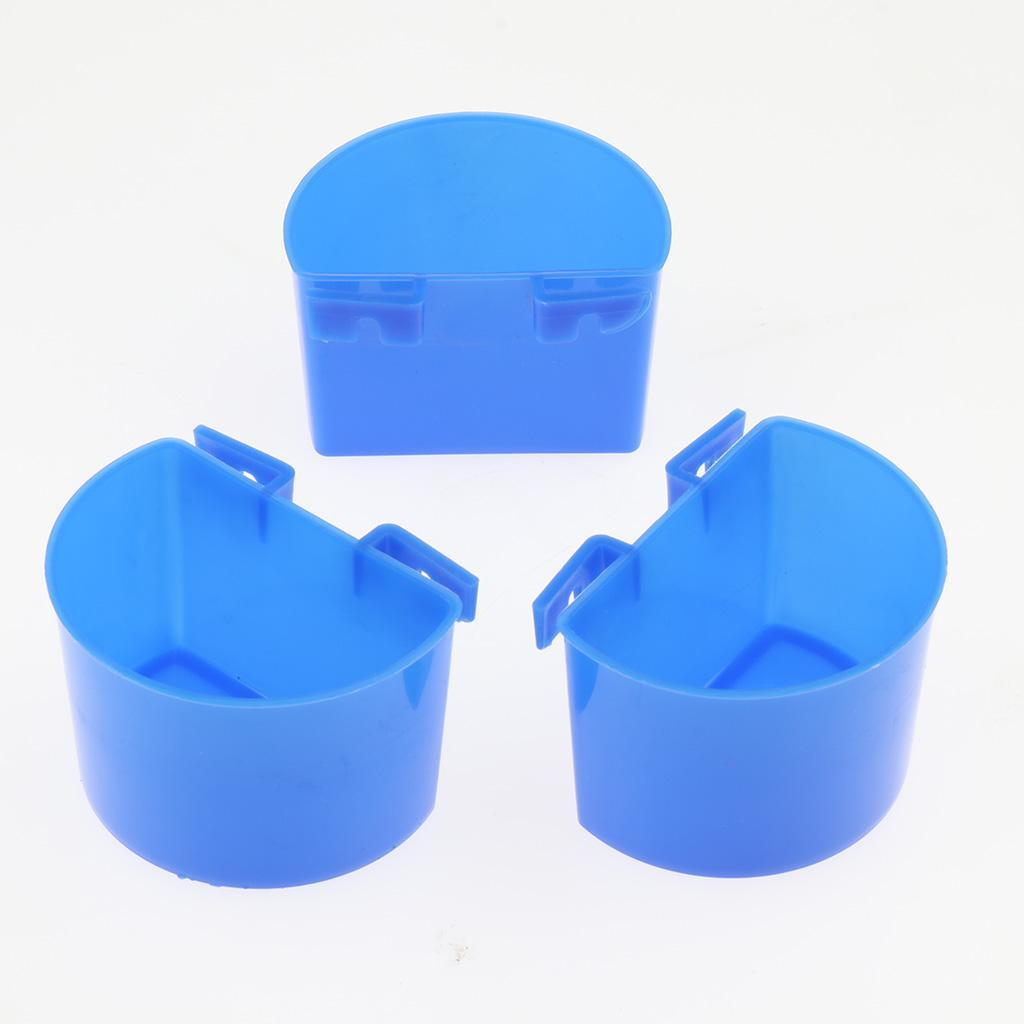 thumbnail 7 - 10 Pcs Poultry Pigeon Feeder Cups Drinker Bowls Plastic Food Water L/S Size