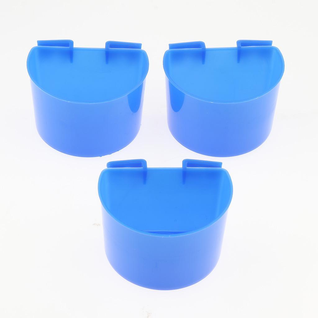 thumbnail 14 - 10 Pcs Bird Pigeon Feeder Cups Bowls Plastic Food Water Sand Cups L/S Size