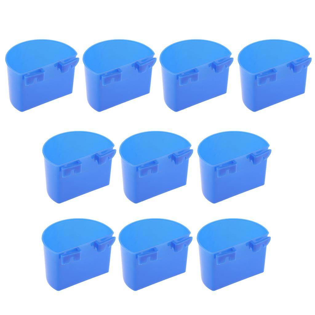 thumbnail 11 - 10 Pcs Bird Pigeon Feeder Cups Bowls Plastic Food Water Sand Cups L/S Size