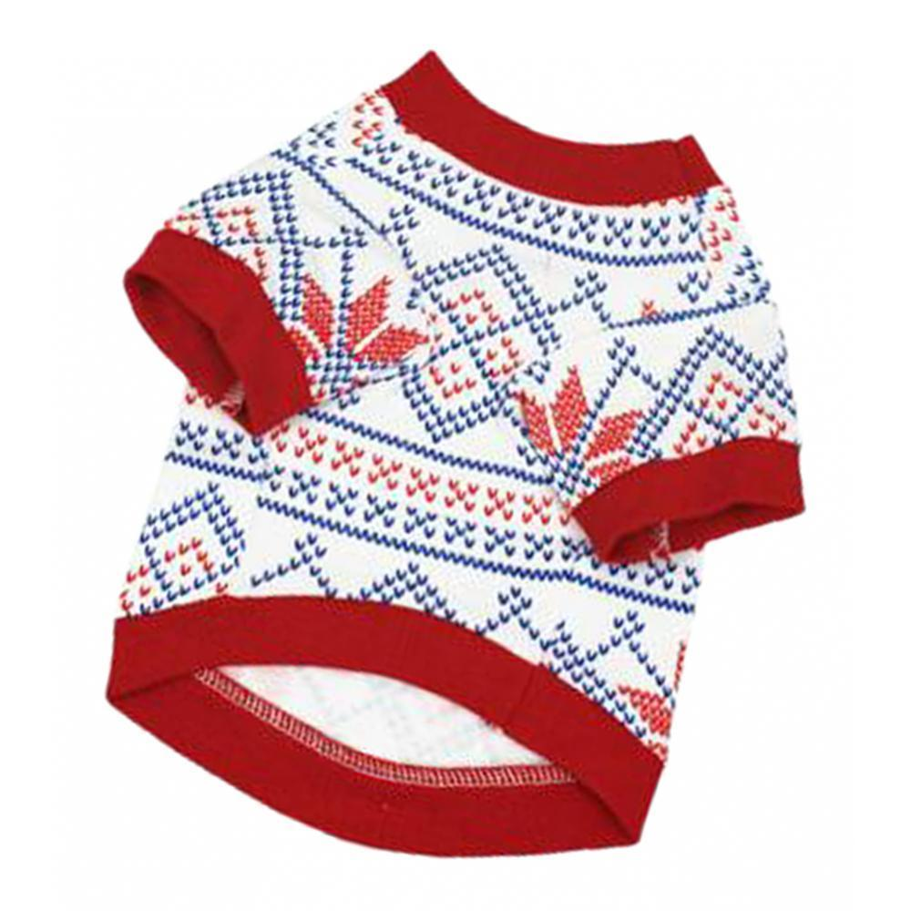 Dog-T-Shirt-Winter-Warm-Unisex-Christmas-Theme-Pet-Clothes-Apparel-S-M-L thumbnail 4