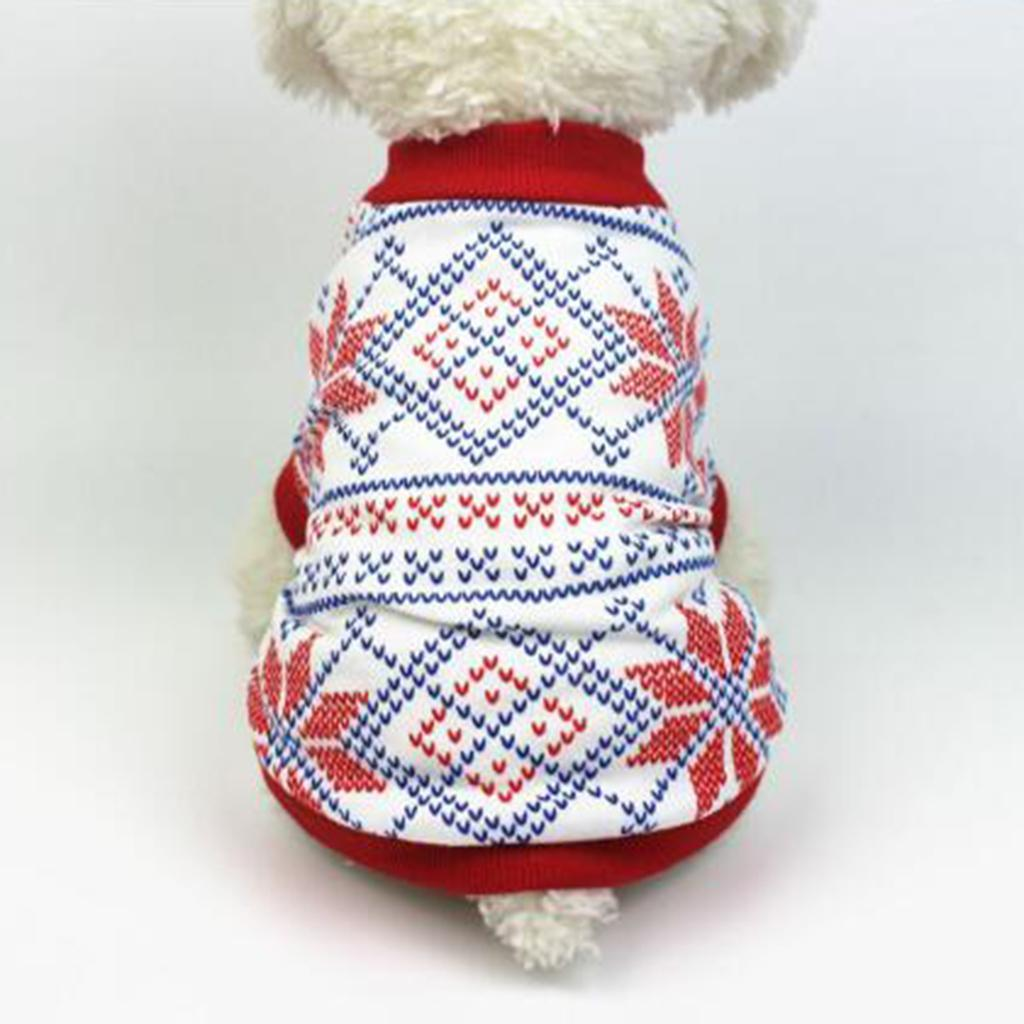 Dog-T-Shirt-Winter-Warm-Unisex-Christmas-Theme-Pet-Clothes-Apparel-S-M-L thumbnail 3
