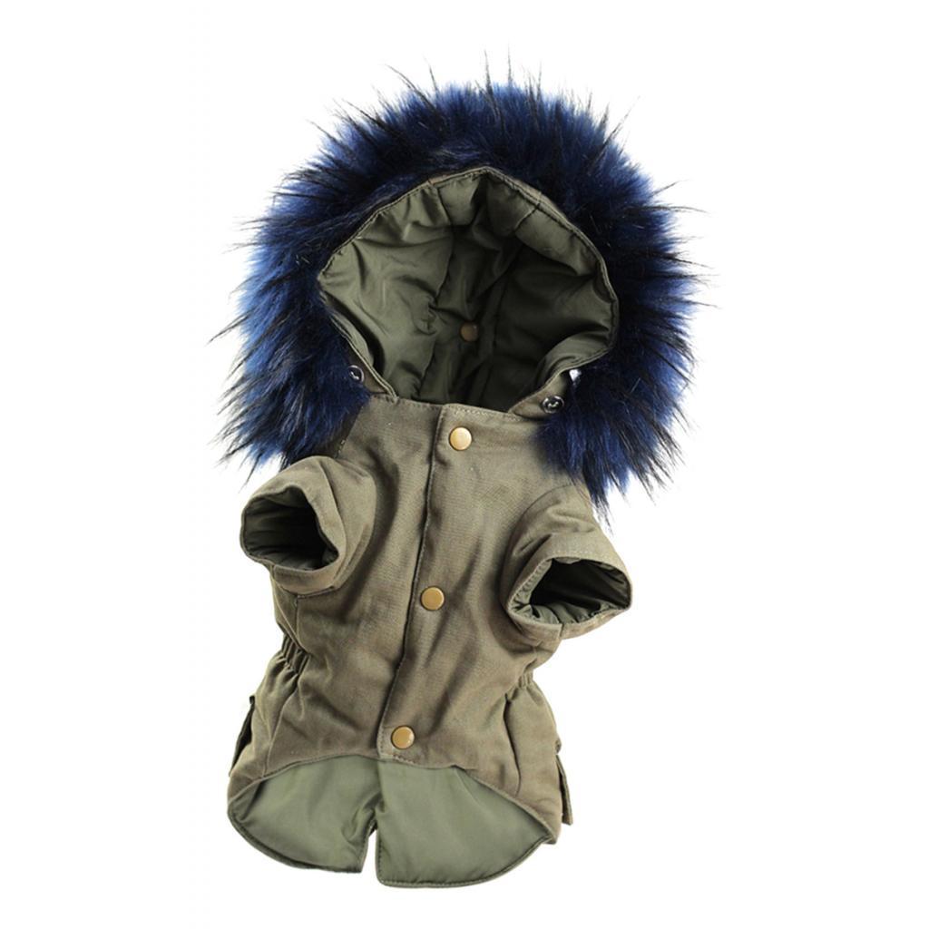 Elegant-Dog-Coat-Woolen-Fur-Collar-Puppy-Pet-Clothes-Winter-Warm-Jacket thumbnail 14