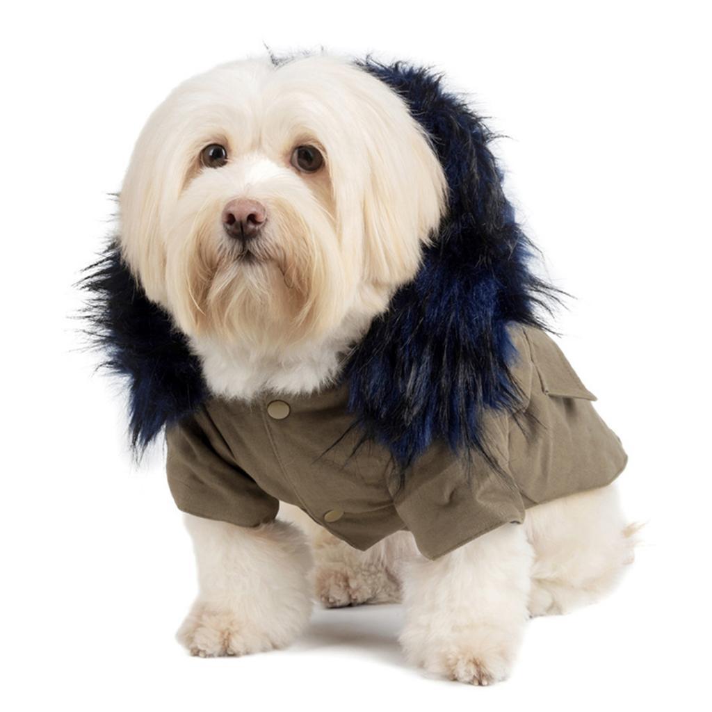 Elegant-Dog-Coat-Woolen-Fur-Collar-Puppy-Pet-Clothes-Winter-Warm-Jacket thumbnail 13