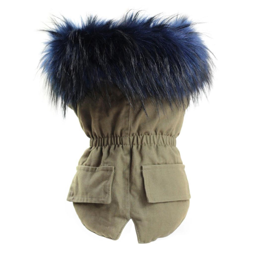 Elegant-Dog-Coat-Woolen-Fur-Collar-Puppy-Pet-Clothes-Winter-Warm-Jacket thumbnail 16
