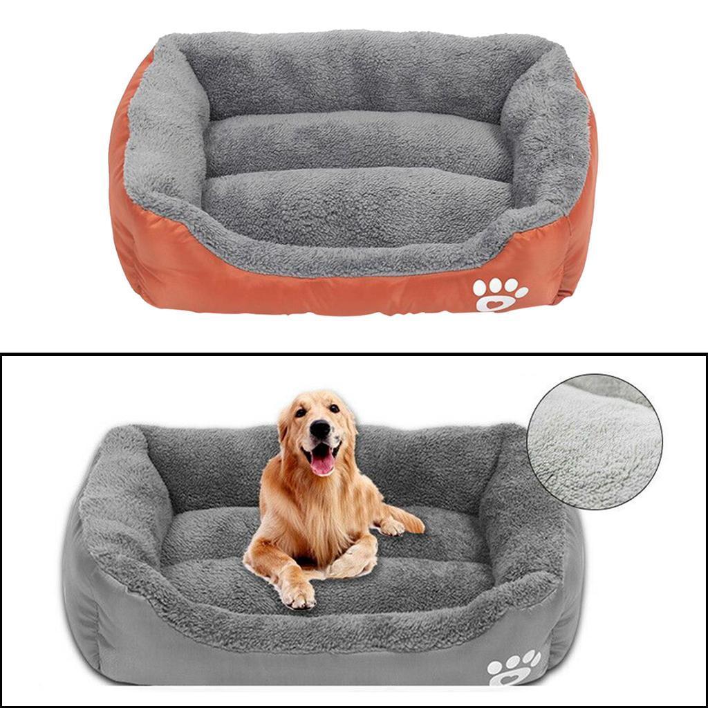 miniature 13 - Doux en peluche lit pour animaux de compagnie chien chat coussin de couchage