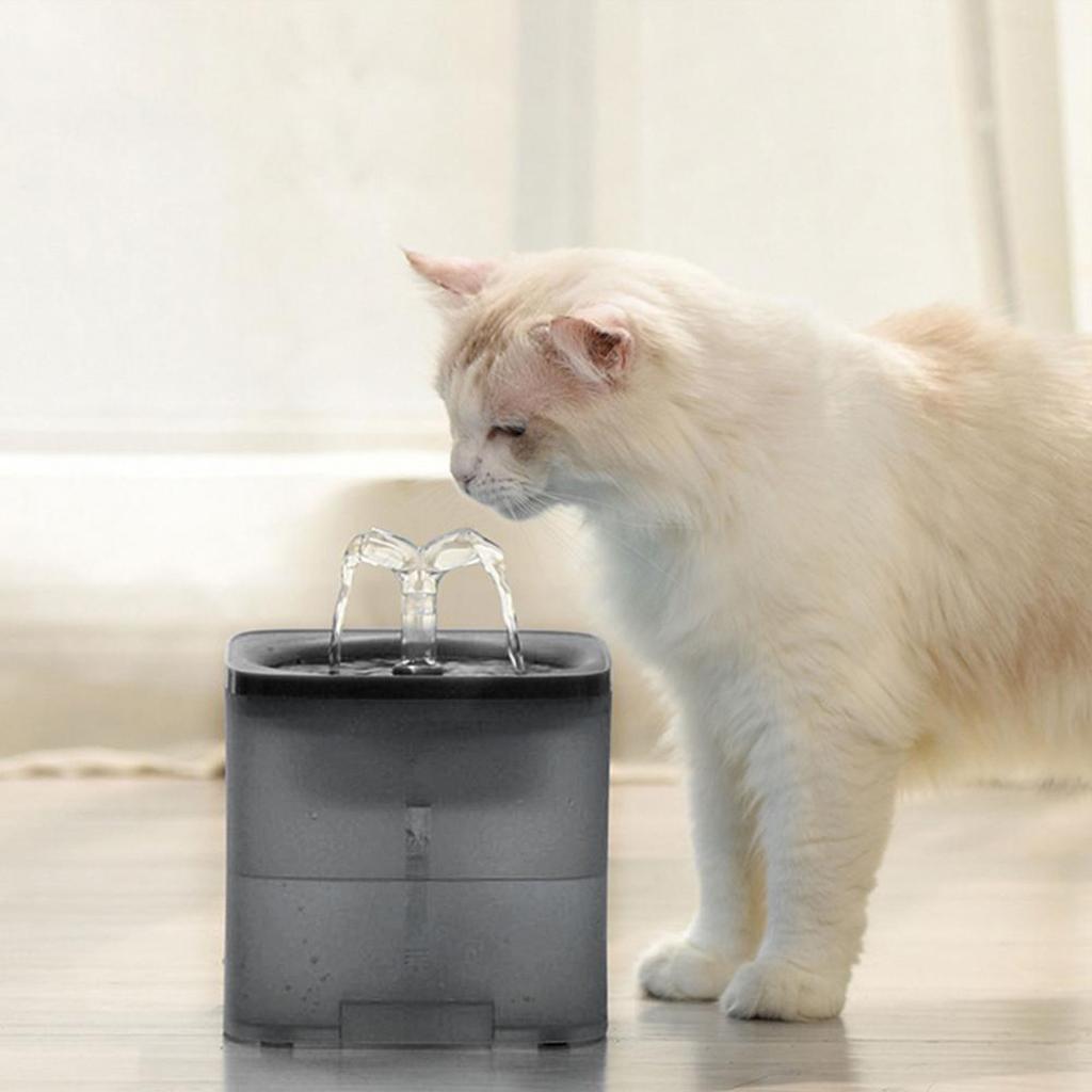 miniature 13 - 2L Chat Électrique Automatique Fontaine D'eau Potable Distributeur Bol USB
