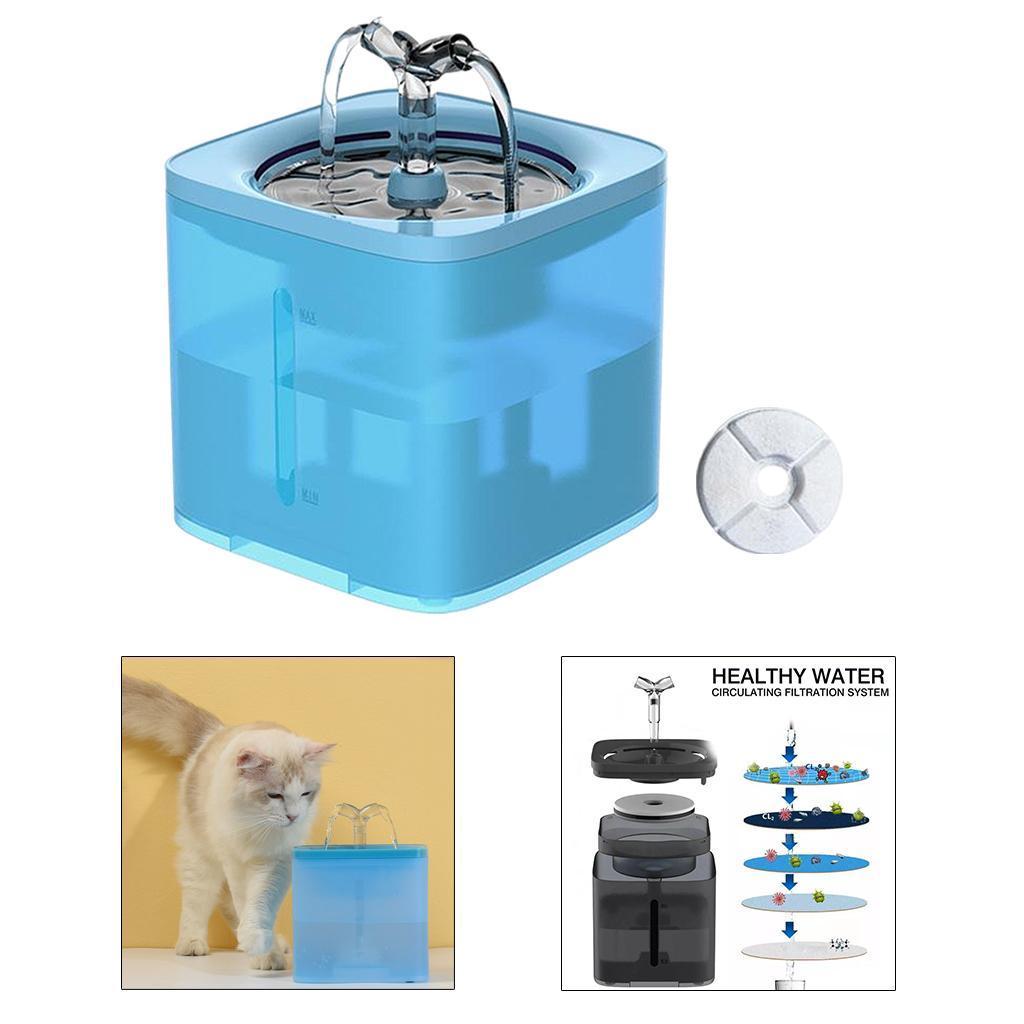 miniature 5 - 2L Chat Électrique Automatique Fontaine D'eau Potable Distributeur Bol USB