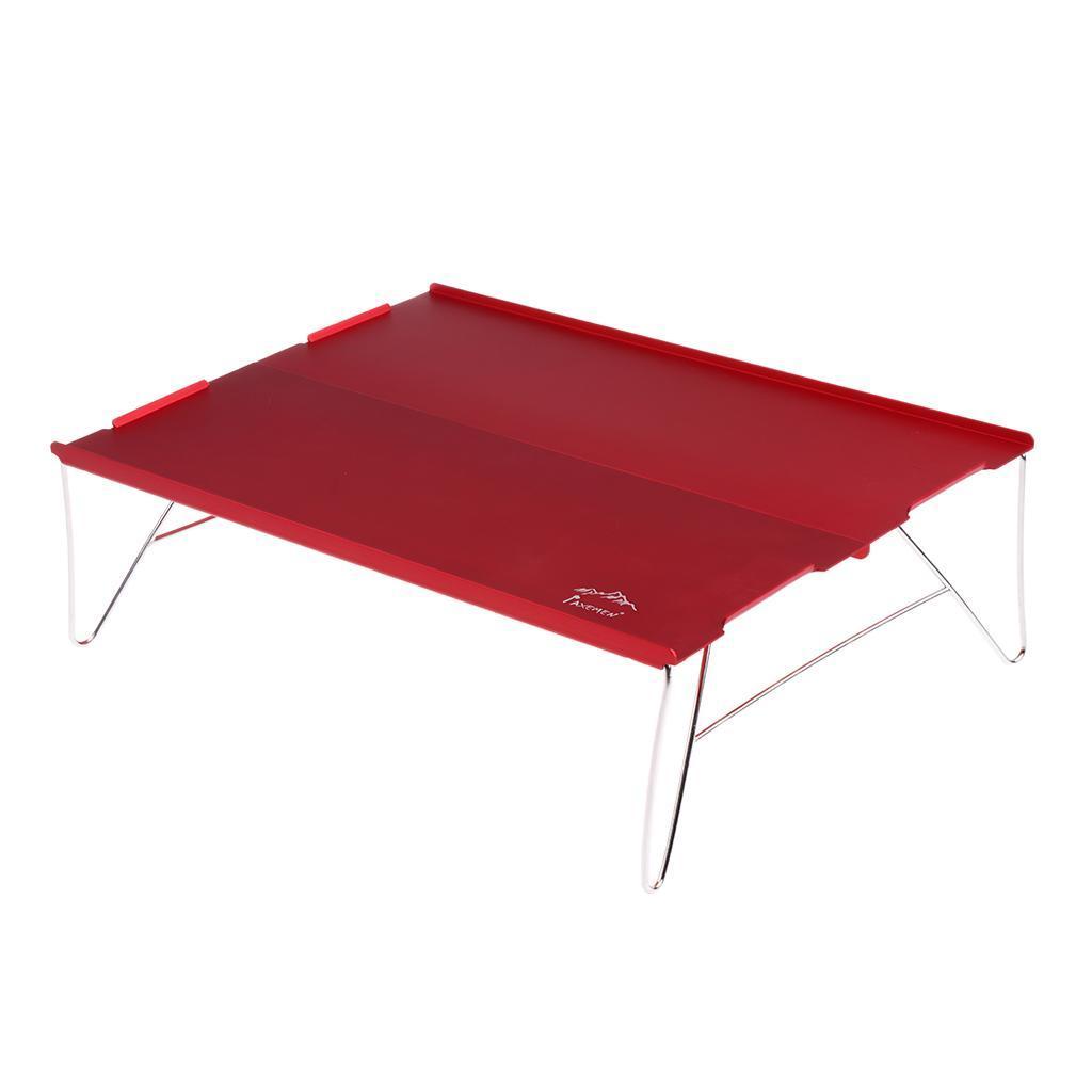 miniatura 3 - Tavolo da campeggio pieghevole da viaggio portatile ultraleggero in alluminio +