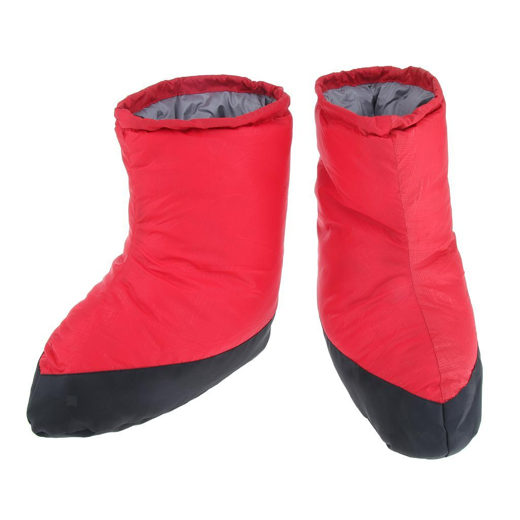 Winter Camping Backpacking Thick Warm Down Socks Booties Keep Your Feet Warm