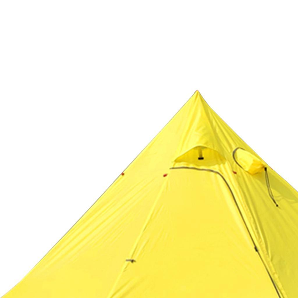 Outdoor Pyramid Tent Sun Shade Shelter with Stovepipe Hole ...