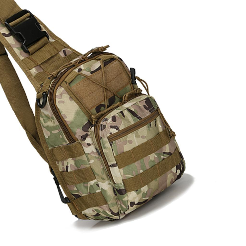 Men Molle Tactical Chest Bag Pack Travel Sport Shoulder Sling Backpack Crossbody