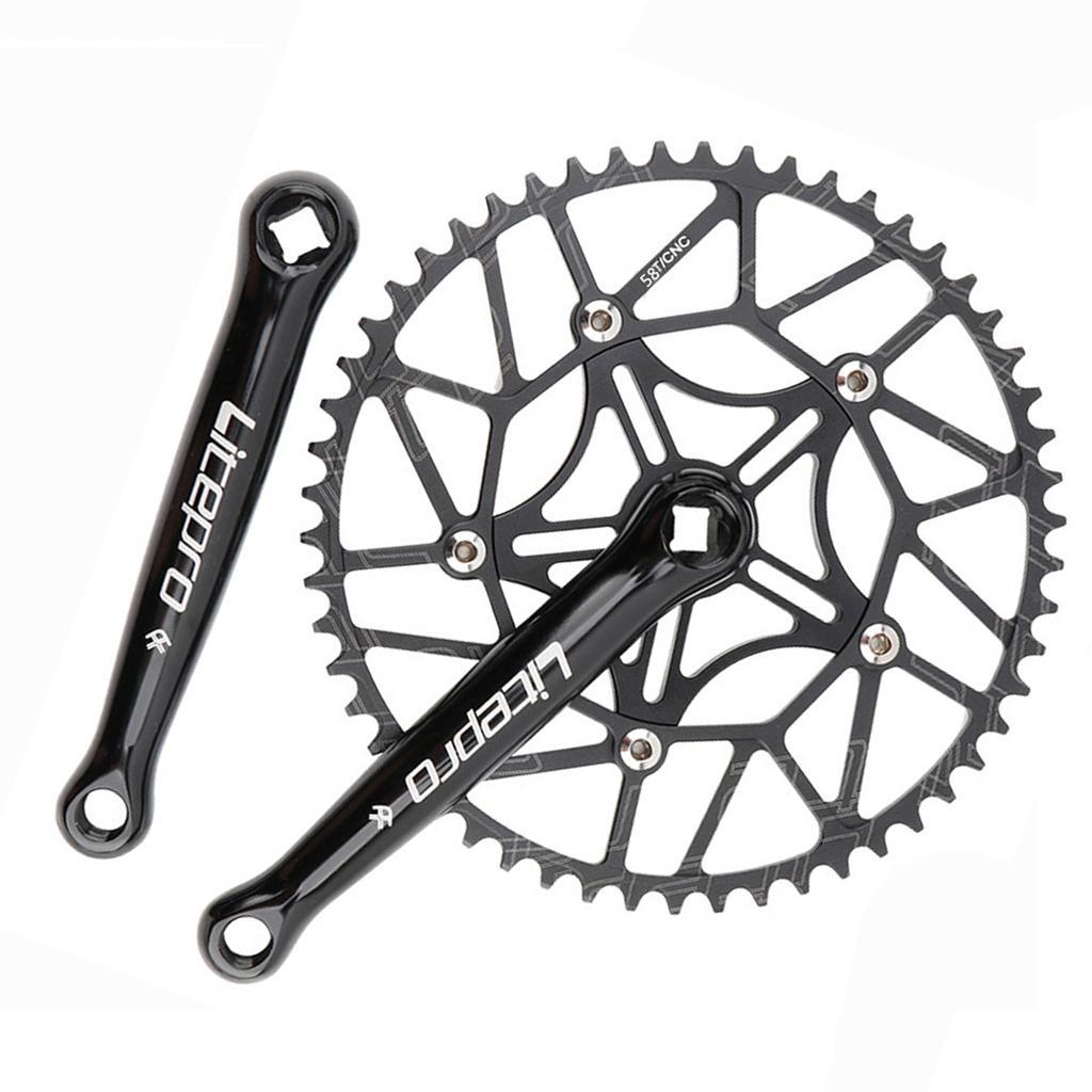 Folding Bike Kettenblatt Breiten Einzel 3-8 Geschwindigkeit 45T-58T 130BCD