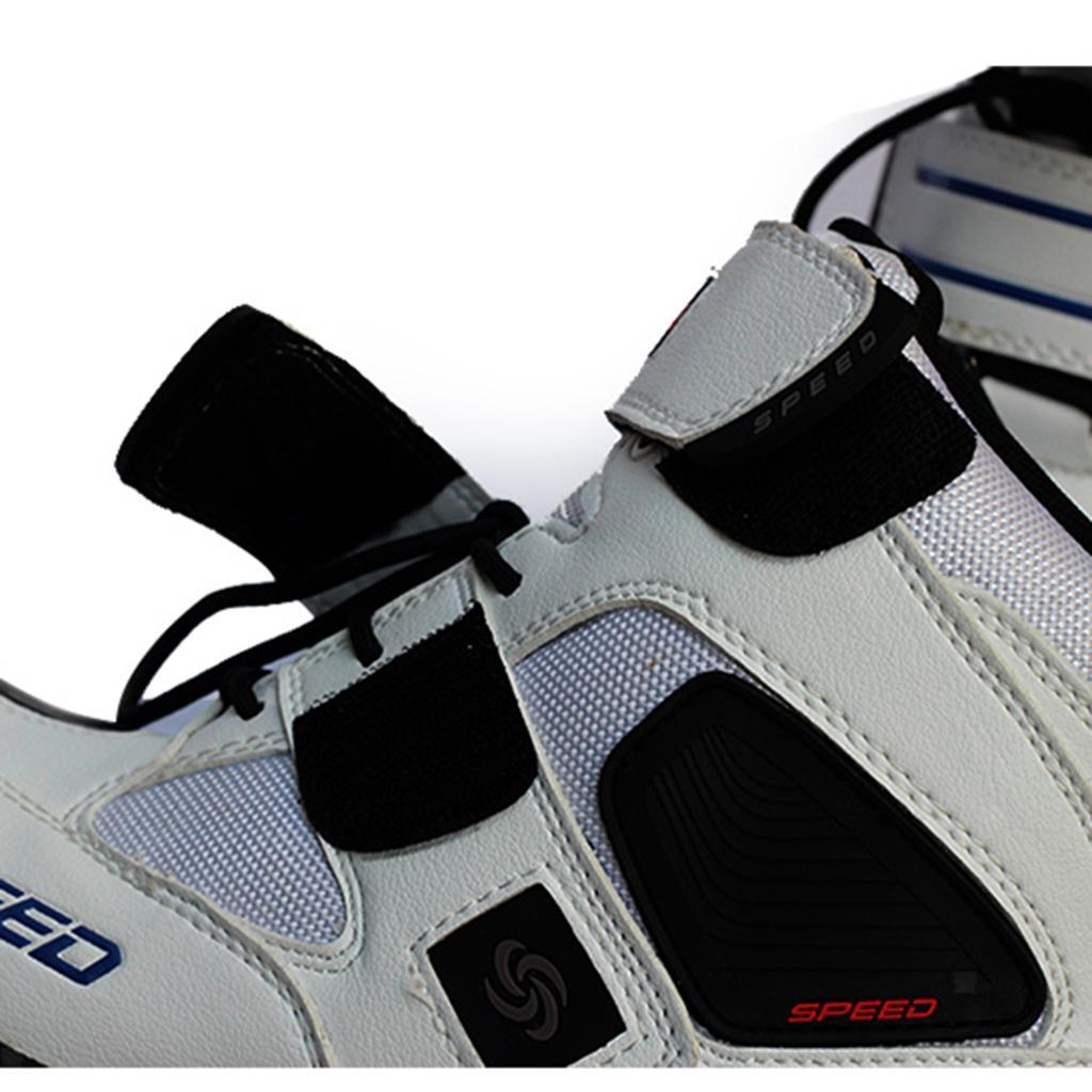 1-PAIA-CORTO-MOTO-Protezione-Caviglia-Stivali-Scarpe-Antiscivolo-Sports miniatura 19