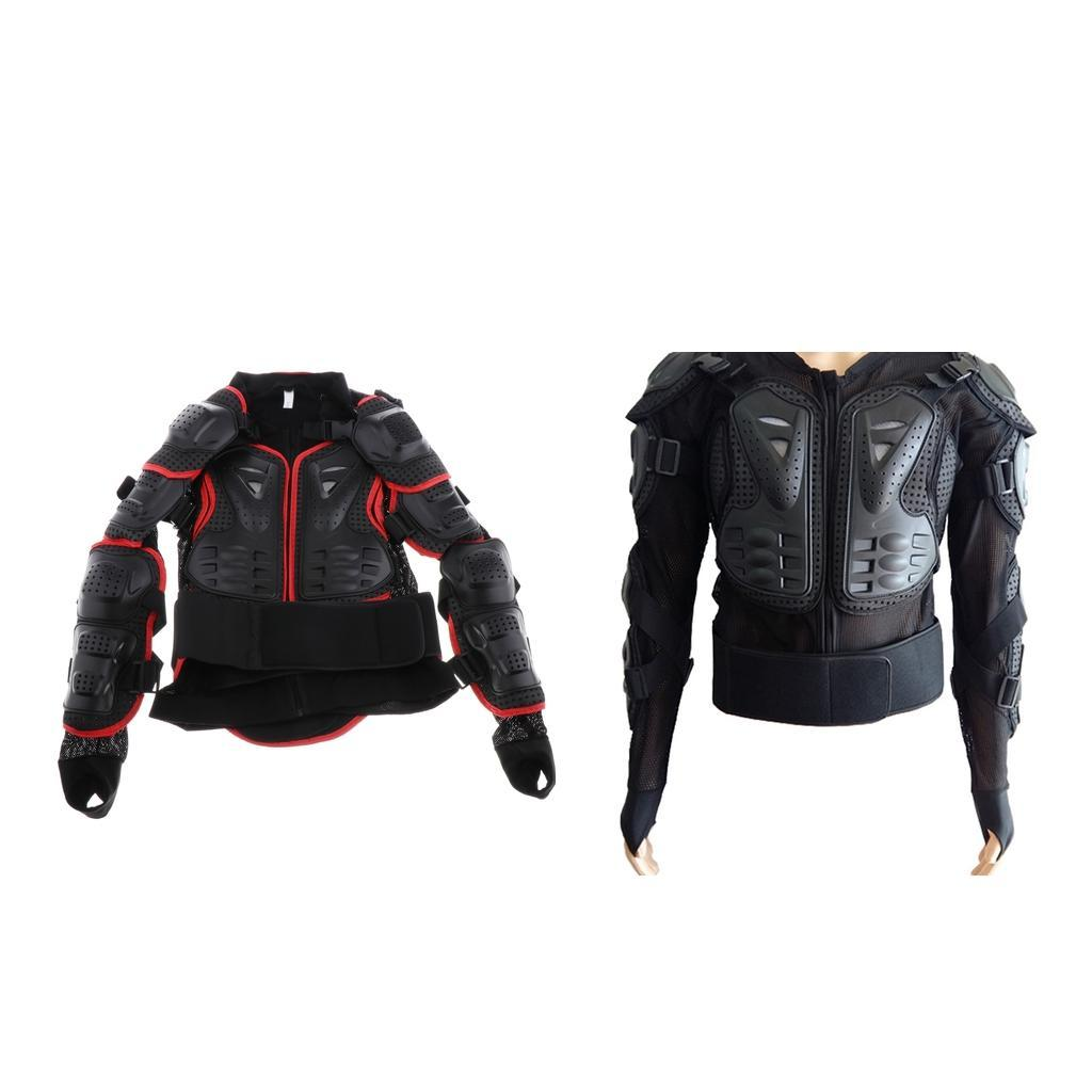 thumbnail 4 - Motorcycle-S-XXXL-Full-Body-Protection-Armor-Jacket-Racing-Spine-Chest-Gear