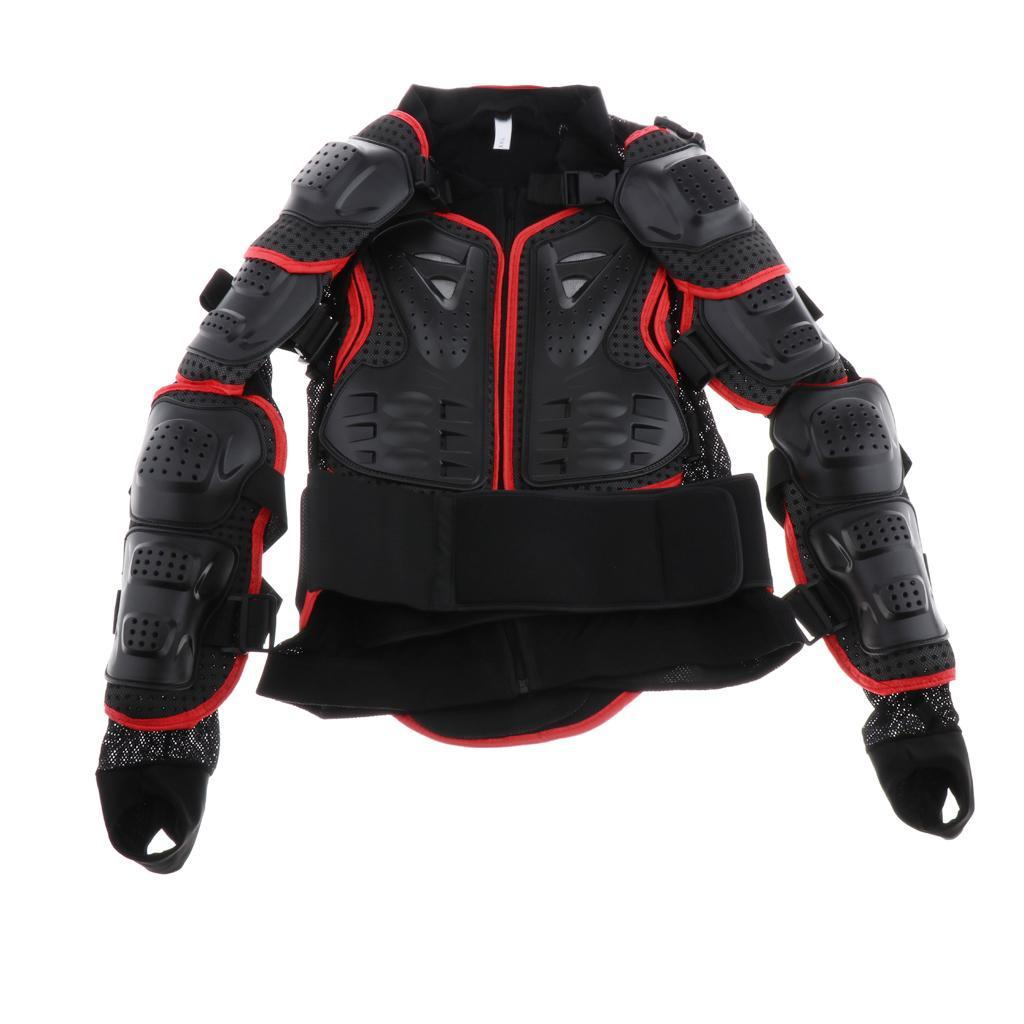 thumbnail 24 - Motorcycle-S-XXXL-Full-Body-Protection-Armor-Jacket-Racing-Spine-Chest-Gear