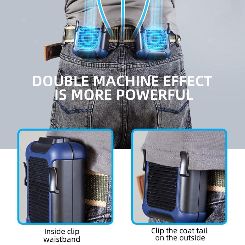 5V-USB-Portable-Mini-ventilateur-taille-ventilateur-suspendu-pour-les-Sports-de miniature 11