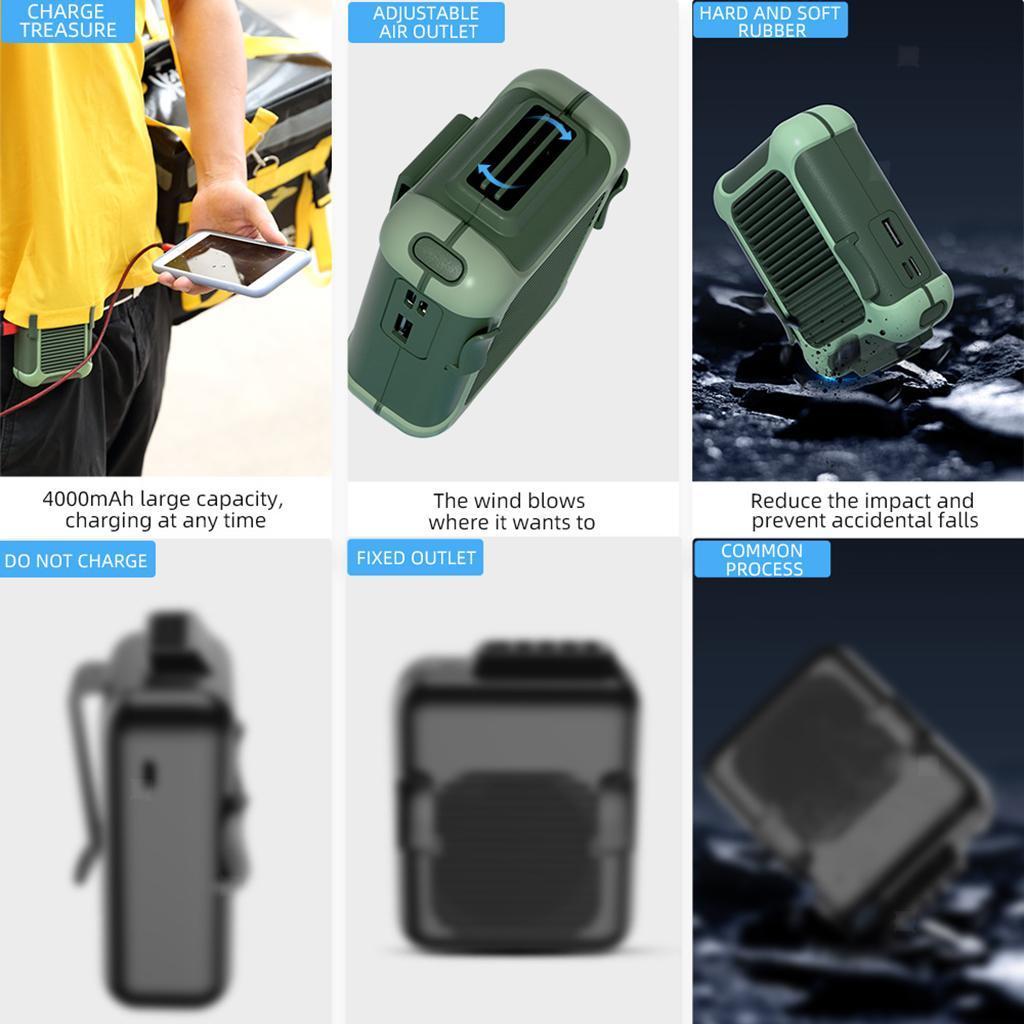 5V-USB-Portable-Mini-ventilateur-taille-ventilateur-suspendu-pour-les-Sports-de miniature 12