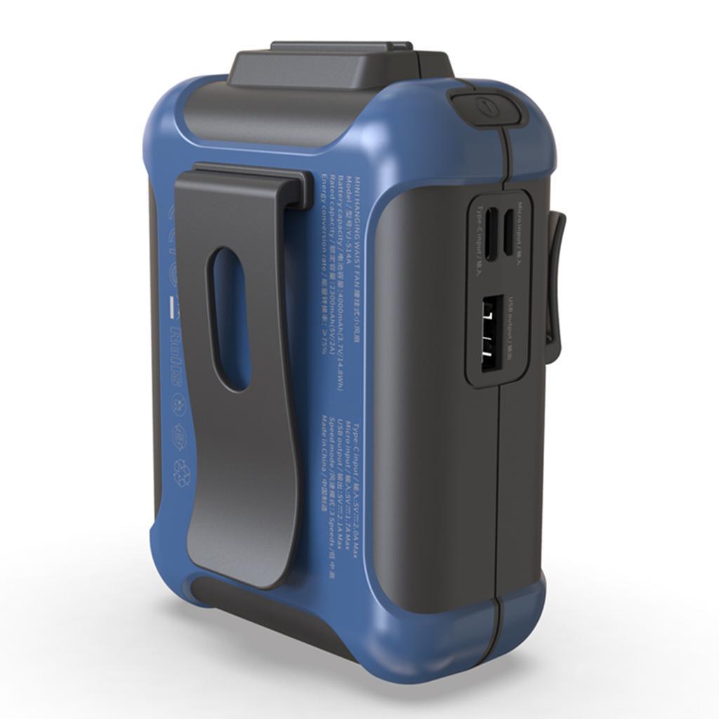 5V-USB-Portable-Mini-ventilateur-taille-ventilateur-suspendu-pour-les-Sports-de miniature 5