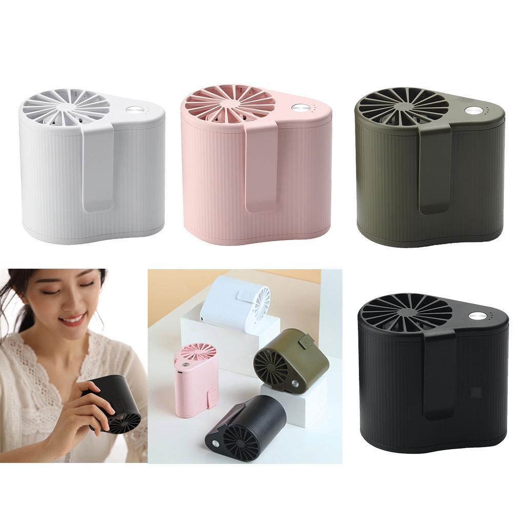 Taille-Suspendue-Mini-Fan-Ventilateur-De-Refroidissement-Portable-5V-1000RPM miniature 4
