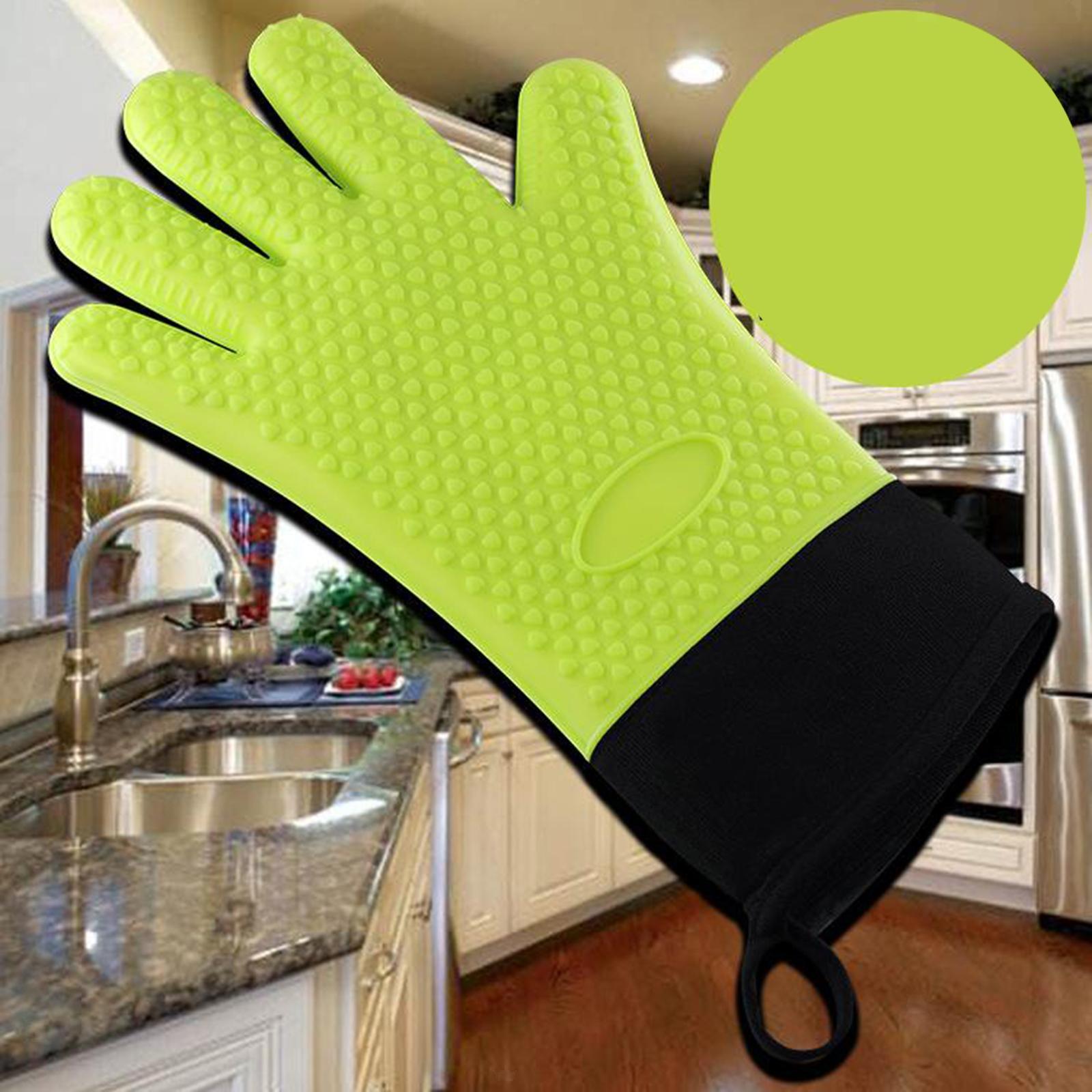 Guantes-para-horno-de-cocina-con-aislamiento-de-silicona-antideslizantes-guantes miniatura 19