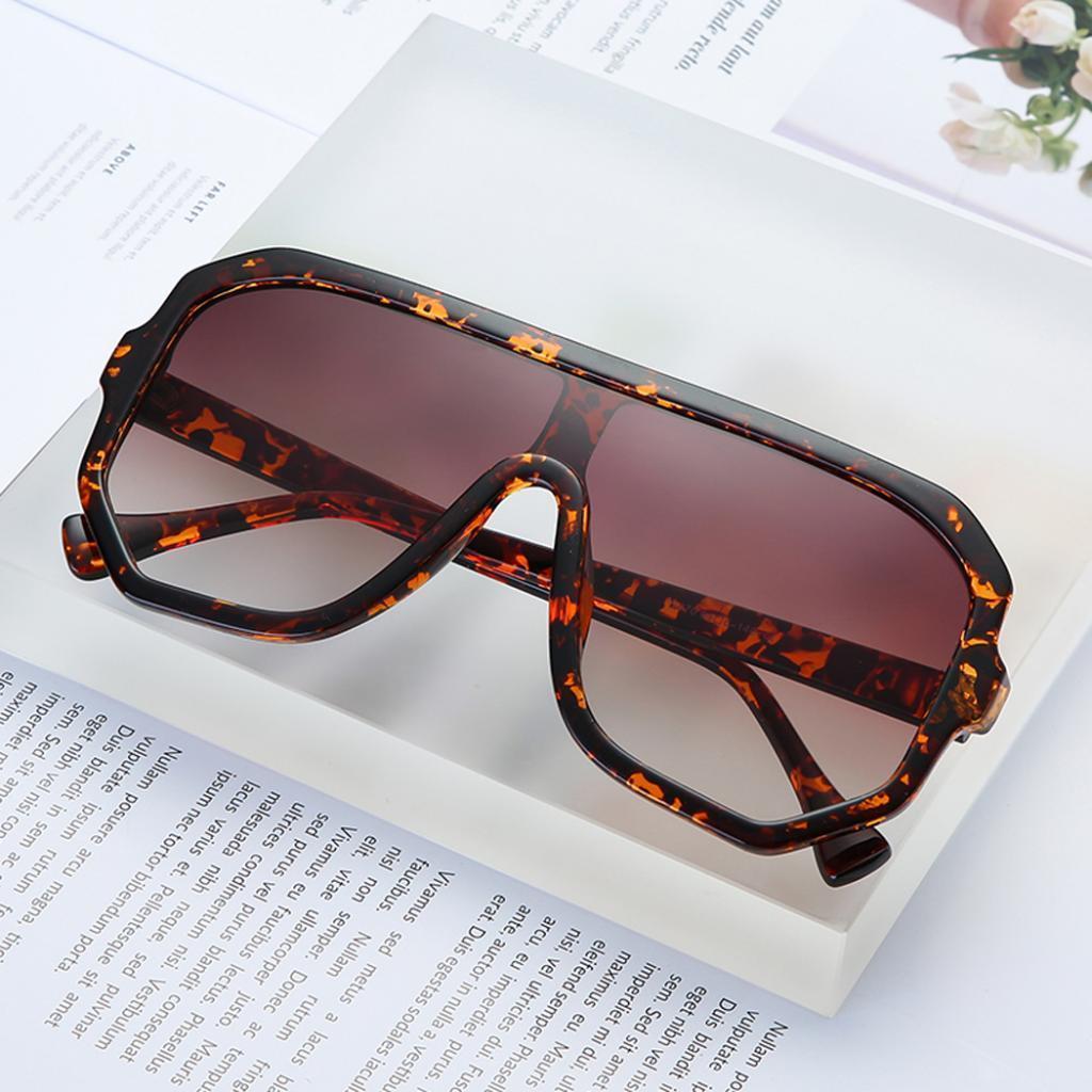 Frauen-Herren-Vintage-Style-Rechteck-Sonnenbrille-UV400-Flat-Top-Fashion Indexbild 17