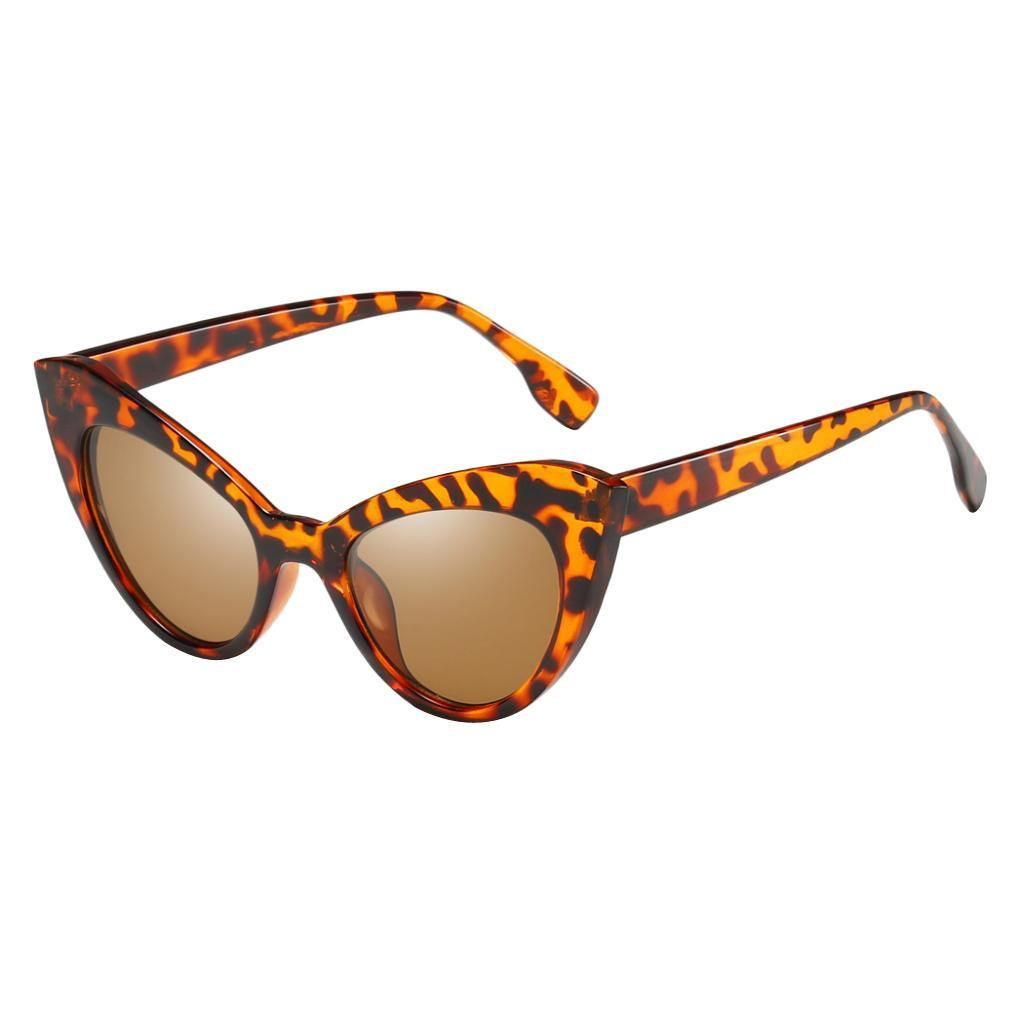 Frauen-Damen-Weinlese-Art-Katzenauge-Sonnenbrille-Plastikrahmen-UV400 Indexbild 12