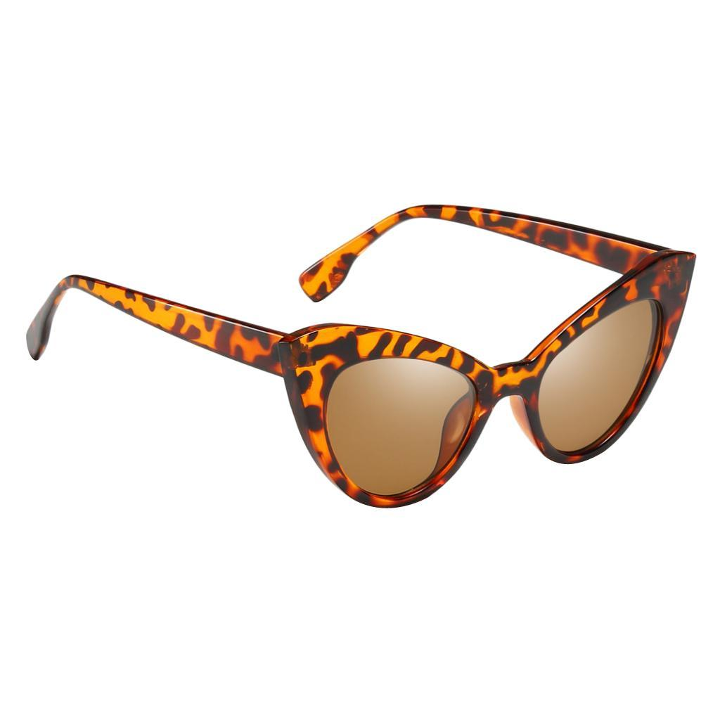 Frauen-Damen-Weinlese-Art-Katzenauge-Sonnenbrille-Plastikrahmen-UV400 Indexbild 13