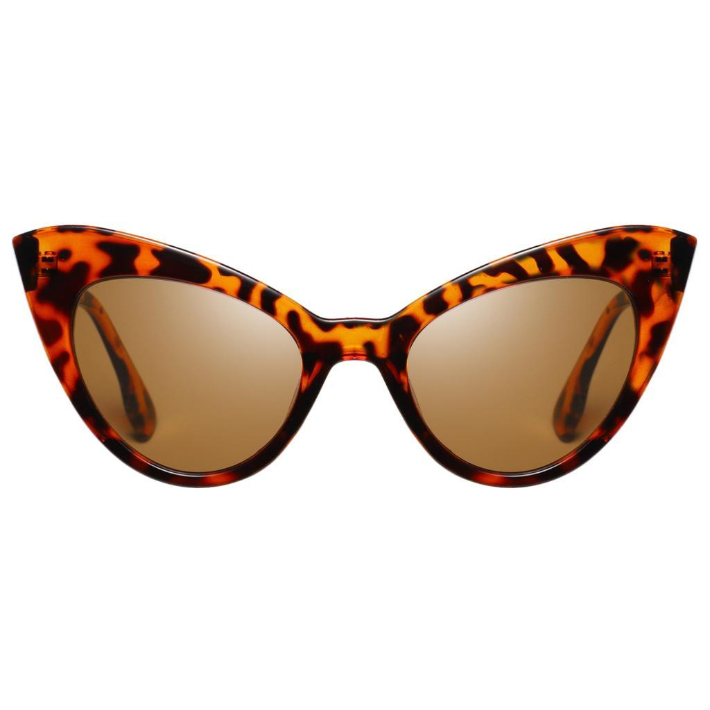 Frauen-Damen-Weinlese-Art-Katzenauge-Sonnenbrille-Plastikrahmen-UV400 Indexbild 11