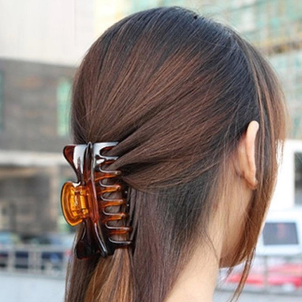 2Pcs Vintage Womens Large Hair Claw No Slip Hair Grip Clamp Updo for Thick Hair