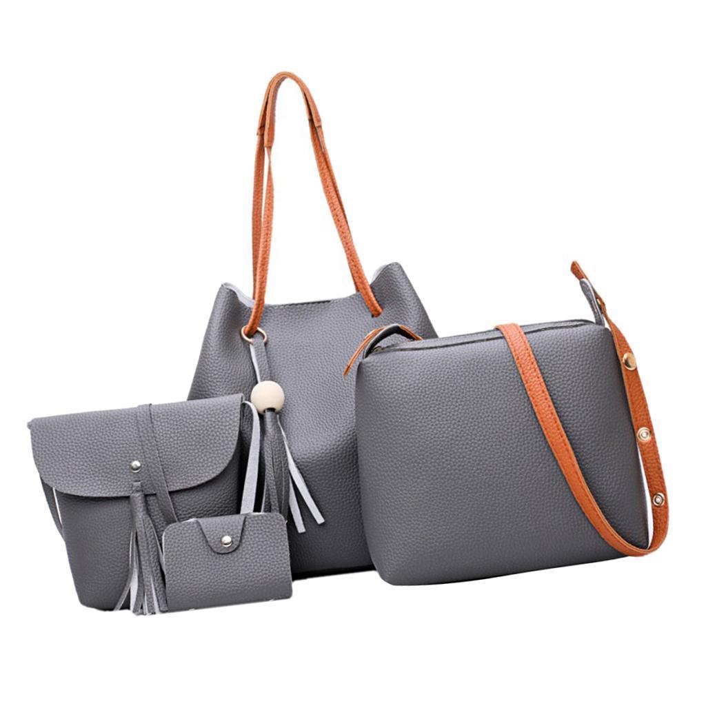 4Damen-Handtasche-mit-Perlenanhaenger-Elegant-Taschen-Shopper-Schultertasche Indexbild 13
