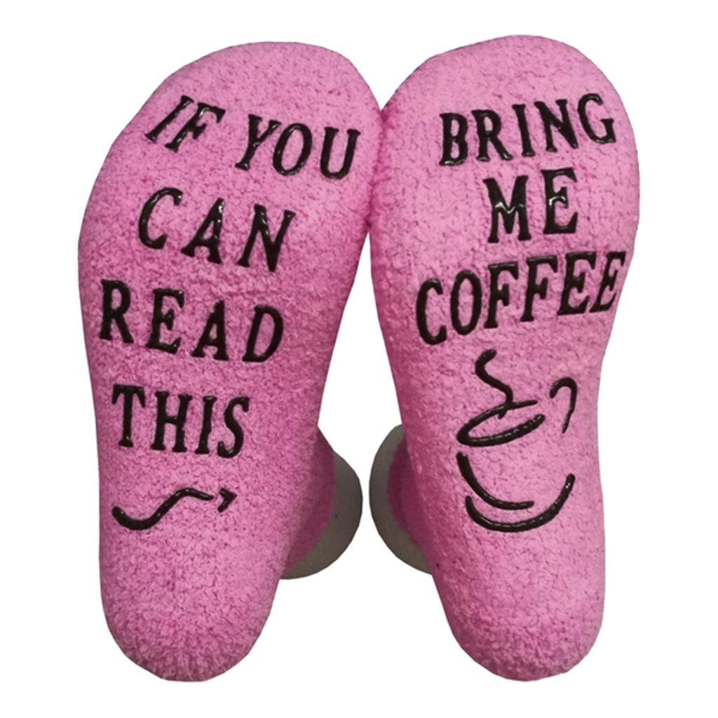 1-Paar-Damen-Wein-Kaffee-Socken-Geschenk-Brief-Drucken-039-If-You-can-read-this Indexbild 9