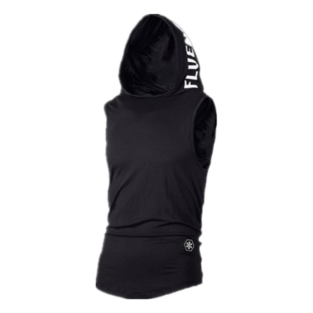 miniature 6 - Sweat-Shirt-a-Capuche-Hommes-Sport-Tee-Shirt-Chemise-Homme-Casual-Slim-sans